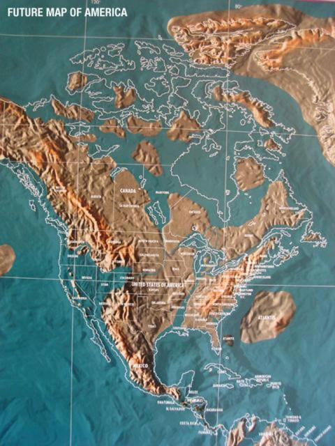 EARTH CHANGE MAPS - Future map of us